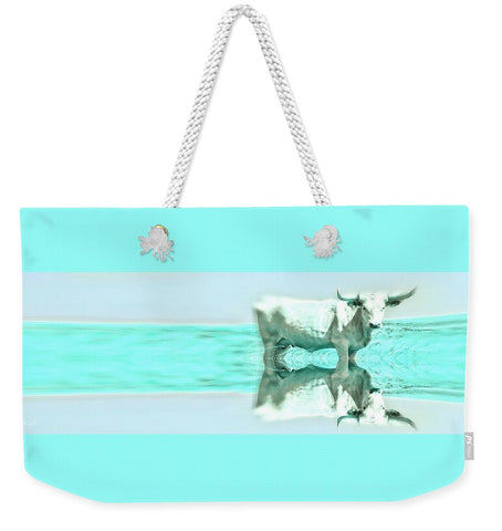 Turquoise and Steer Weekender Tote bag