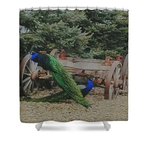 Two Pea or Not Two Pea Shower Curtain