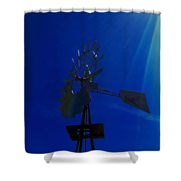 Underwater Windmill Shower Curtain