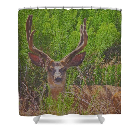Velvouflage Shower Curtain