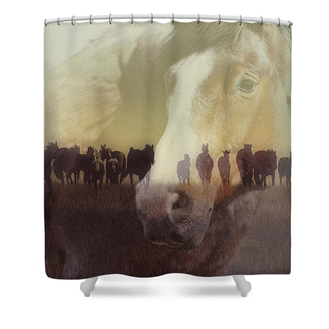 Watch Over the Last Run at Dusk Shower Curtain