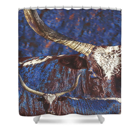 Watusi Blues Shower Curtain