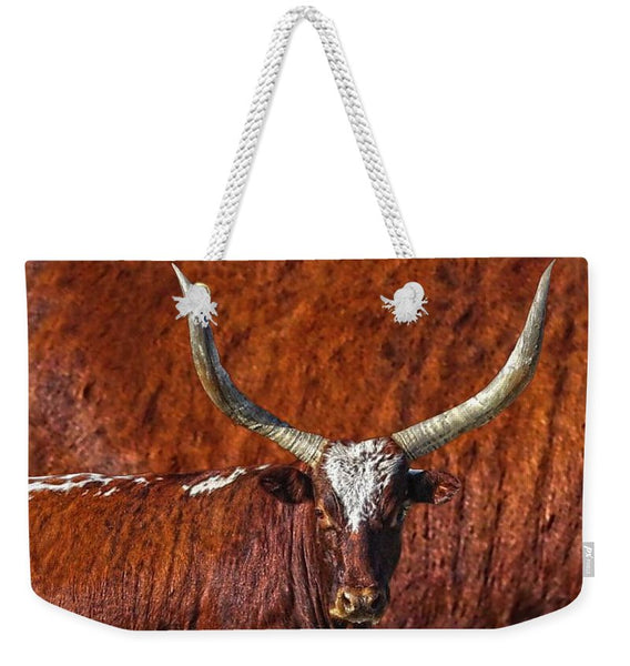 Watusi Blues in Rustic Red Weekender Tote bag