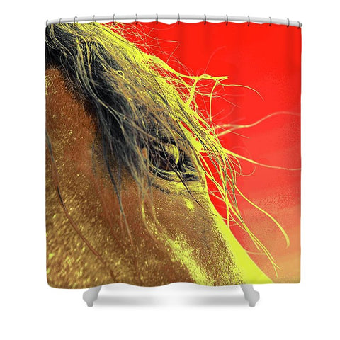 Whips Eye Electrified Shower Curtain