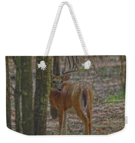 Whitetail Buck in Woods Weekender Tote bag
