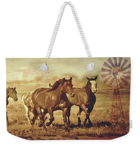 Wild Horses and Windmills Weekender Tote bag