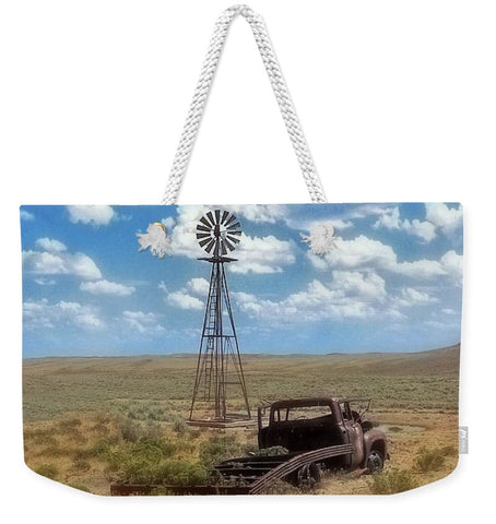 Windmill Over Lenzen Weekender Tote bag