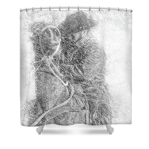 Winter Cowboy Shower Curtain