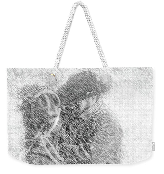 Winter Cowboy Weekender Tote bag