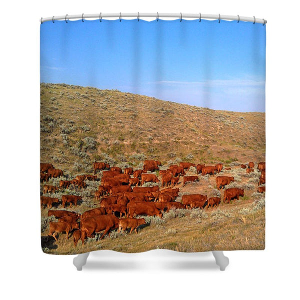 Wyoming Reds Shower Curtain