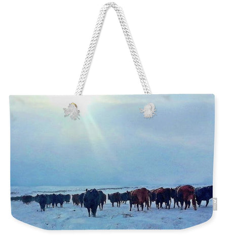 Wyoming Winter Push Weekender Tote bag