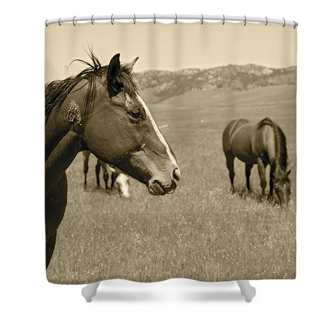 Young Stud Shower Curtain