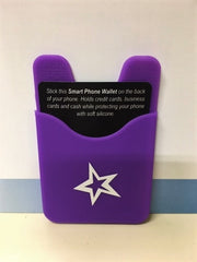 Purple Silicone Smart Phone Credit Card Holder