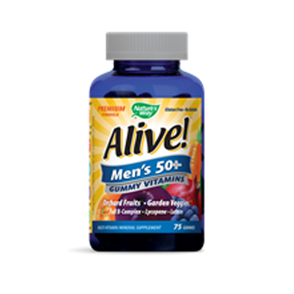 Alive Mens 50+ Premium Gummy Multi-Vitamin 75ct - ninesis