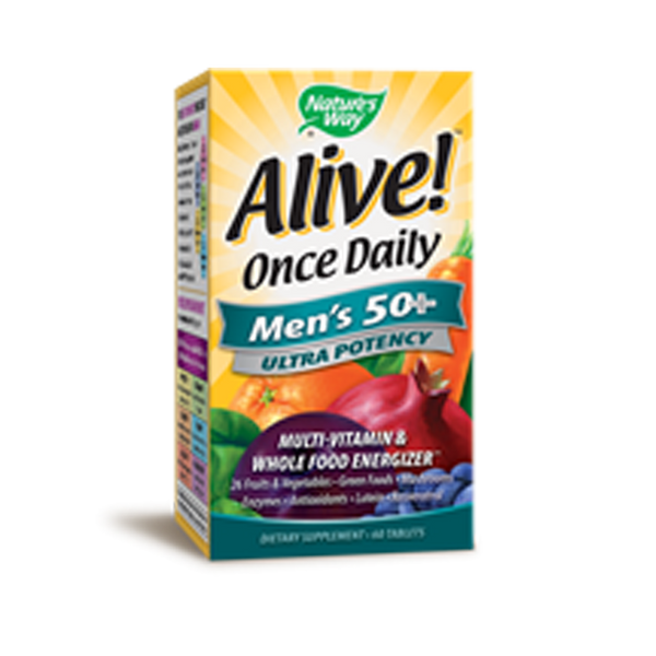 Alive! Once Daily Mens 50+ Multi 60t (Ultra Potency) - ninesis