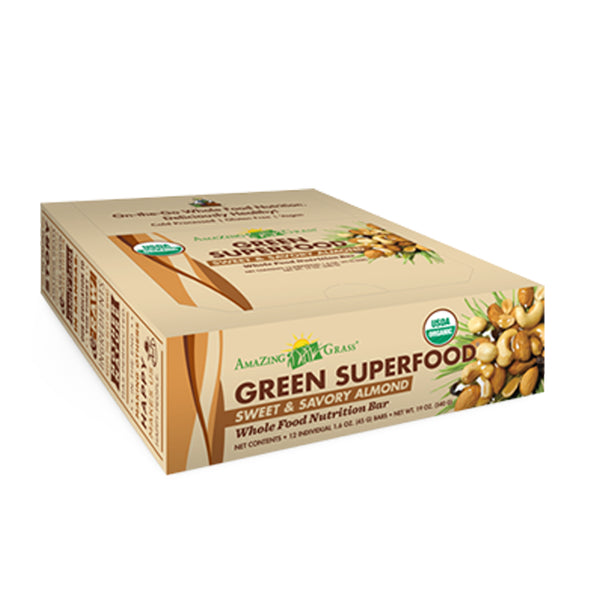 Green SuperFood Energy Bars Almond (12 count) - ninesis