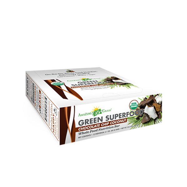Green SuperFood Energy Bars Coconut (12 count) - ninesis