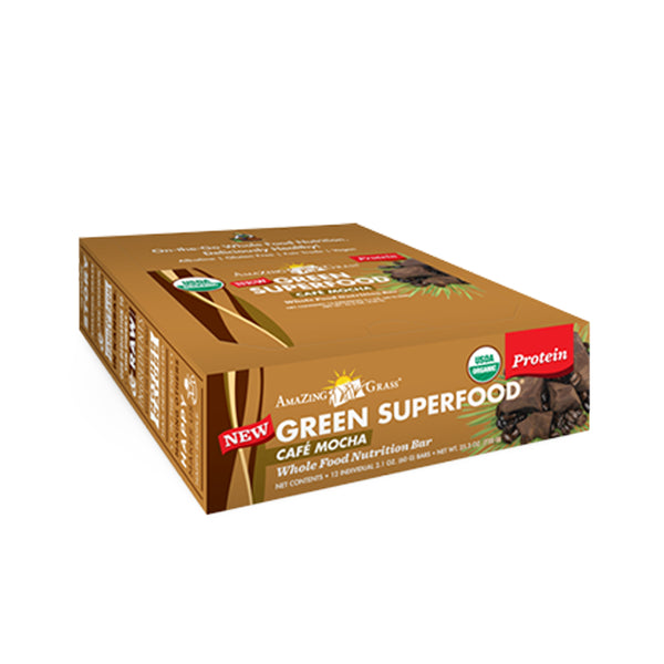 Green SuperFood Energy Bars Cafe Mocha (12 count) - ninesis