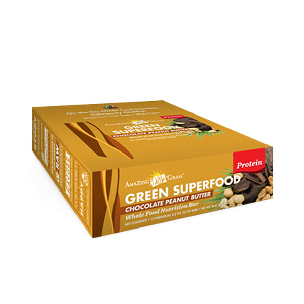 Green SuperFood Energy Bars Peanut Butter (12 count) - ninesis