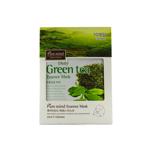 "Pure Mind Made in Nature, Essence Mask ""Green Tea"" 10 Sheets (23ml) - ninesis"