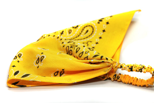 Yellow Bandana Kerchief Headband