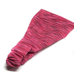 Dark Pink Sports Wrap Headband, Quick Dry Slub Stripe