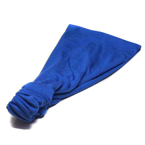 Royal Blue Sports Wrap Headband