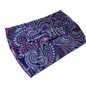 Purple Paisley Turban Headband
