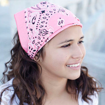 Pink Kerchief Headscarf