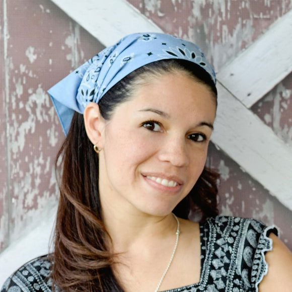Chambray Blue Bandanna Kerchief