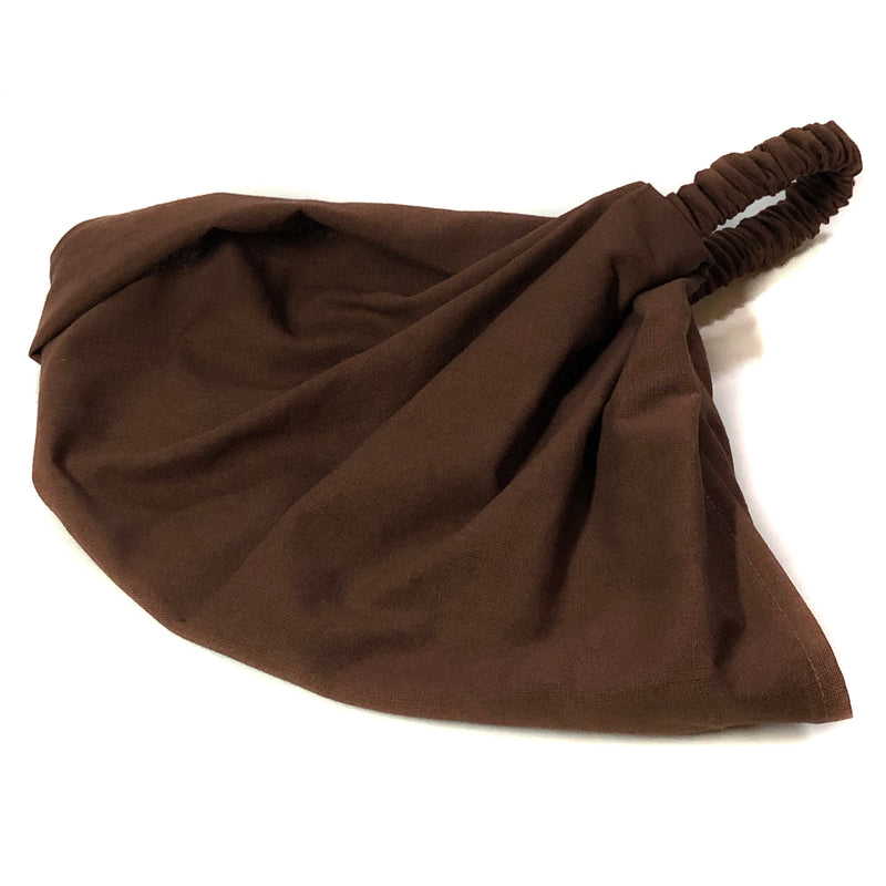 Solid Brown Extra Wide Headband