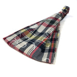 Red & Navy Madras Wide Headband
