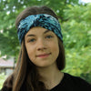 Blue Print Turban Headband