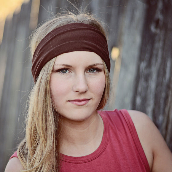 Solid Brown Knit Headband