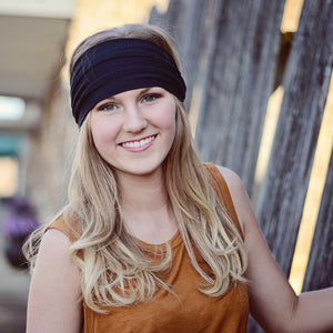 Black Headband, Knit