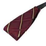 Burgundy & Gold Vintage Necktie Thin Headband