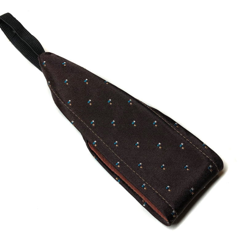 Black/Charcoal Herringbone Flannel Pocket Scarf