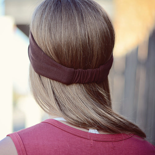 Solid Brown Stretchy Headwrap