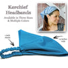 Charcoal Gray Bandana Kerchief Headband
