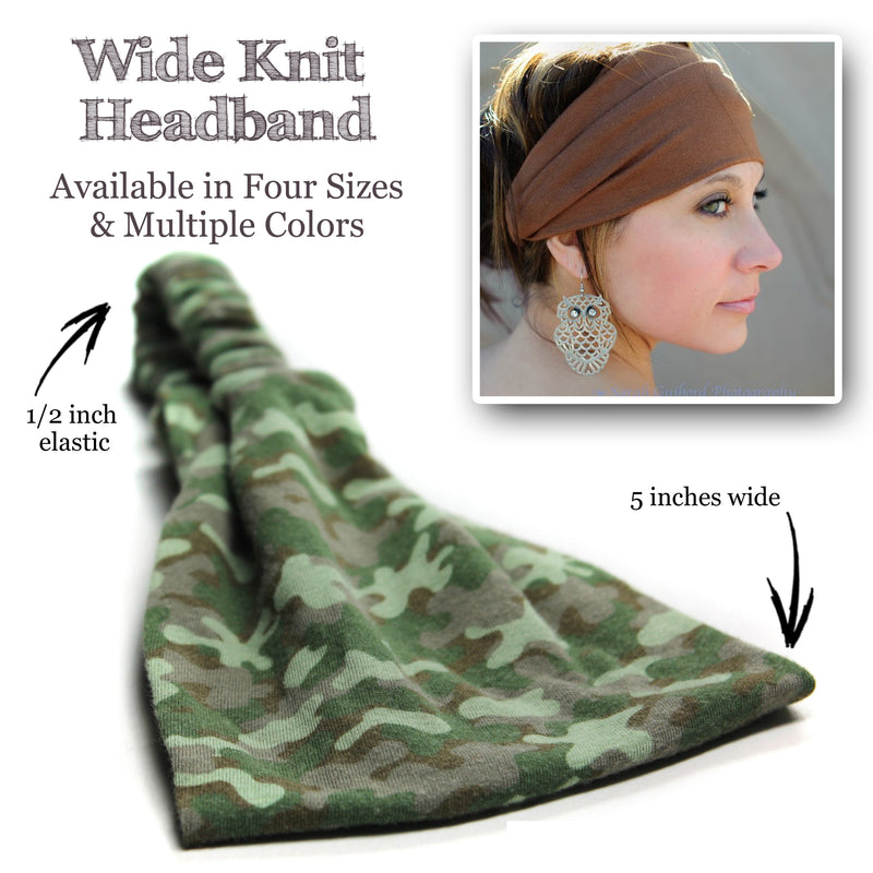 Sage Green Headband, Knit Double Brushed