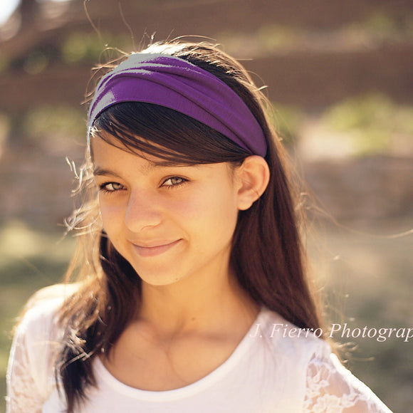 Purple Headband, Knit