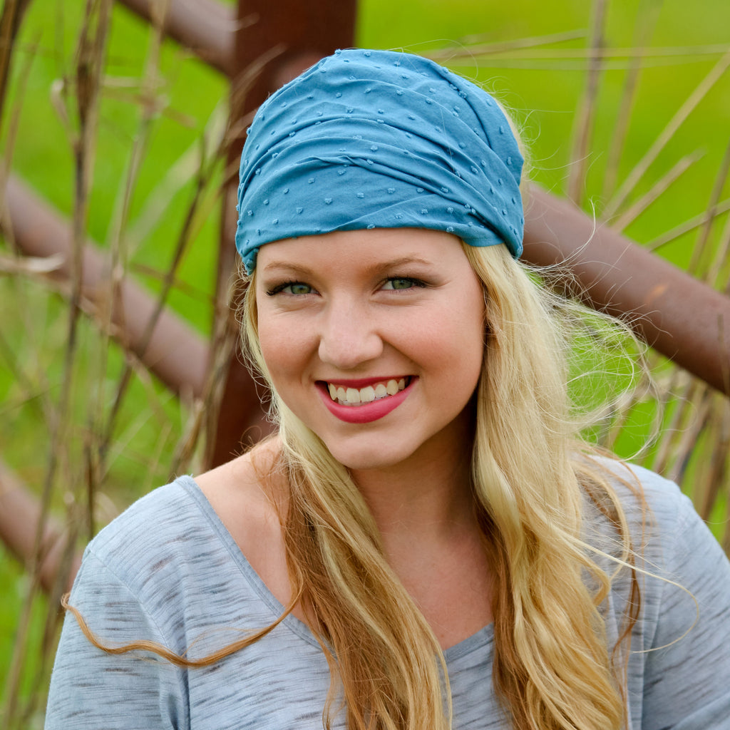 Blue Extra Wide Headband