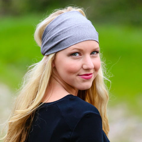 Gray Wide Headband