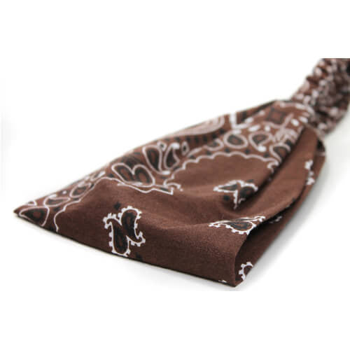 Brown Wide Bandana Headscarf