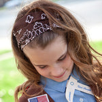 Brown Bandanna Headband