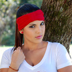 Wide Turban Headscarf Red