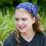 Purple Bandana Kerchief Headband