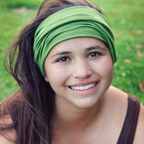 Green Sports Wrap Headband