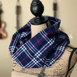 Navy & Red Flannel Pocket Scarf