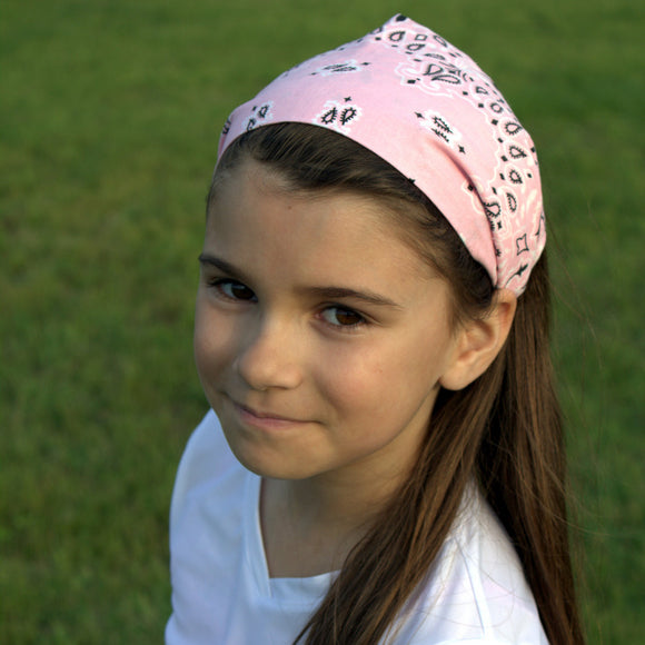 Soft Pink Bandana Wide Headband